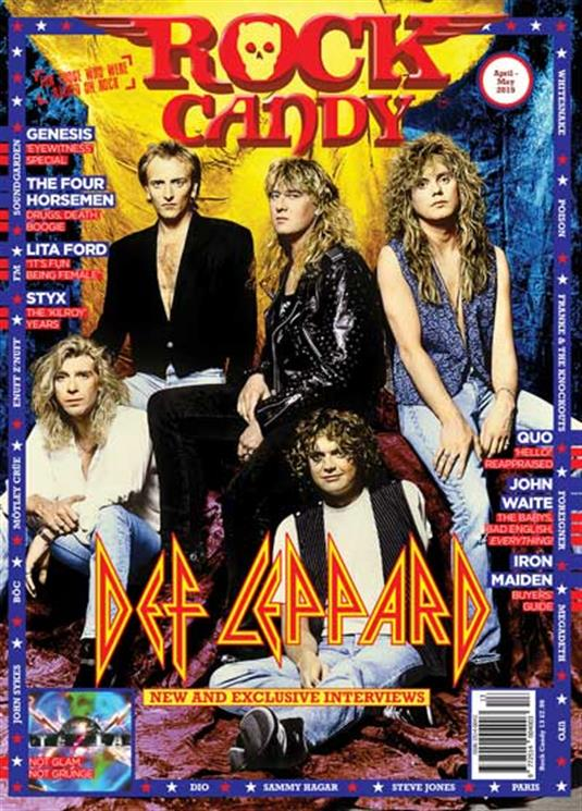 Rock Candy Magazine Issue 13: Def Leppard New Cover Exclusive - Genesis Iron Maiden