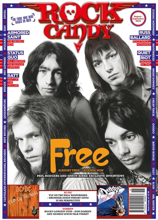 Rock Candy Magazine Issue 15: FREE (Paul Rodgers + Simon Kirke) Status Quo