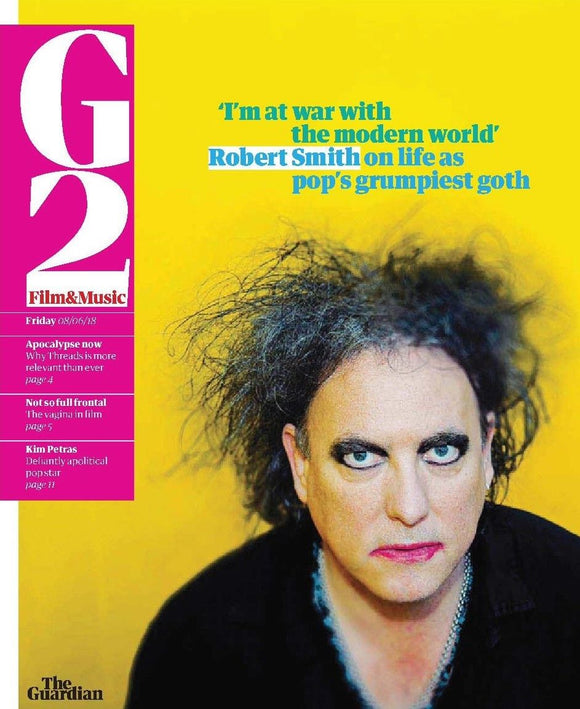 UK Guardian G2 June 2018: THE CURE Robert Smith Cover Story