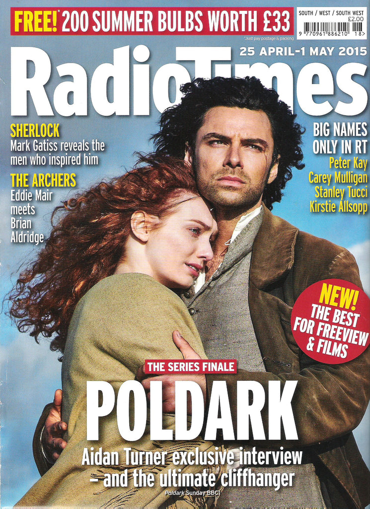 Radio Times April 25 2015 Aidan Turner Eleanor Tomlinson Poldark Series Finale