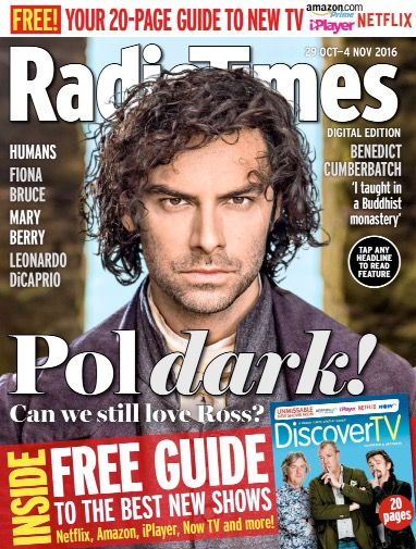 Radio Times Magazine 29 October 2016 Aidan Turner Poldark