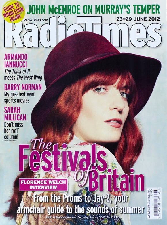 Radio Times Magazine June 2012: Florence Welch and the Machine Sarah Millican