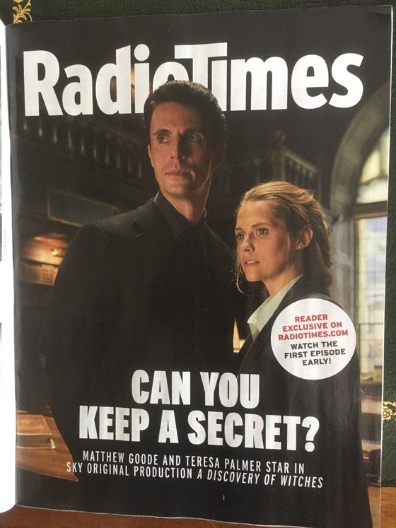 UK Radio Times Magazine September 2018: Matthew Goode Teresa Palmer Chloe Moretz