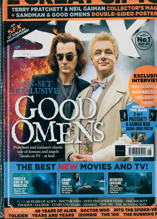 UK SFX Magazine June 2019: DAVID TENNANT Michael Sheen GOOD OMENS Godzilla