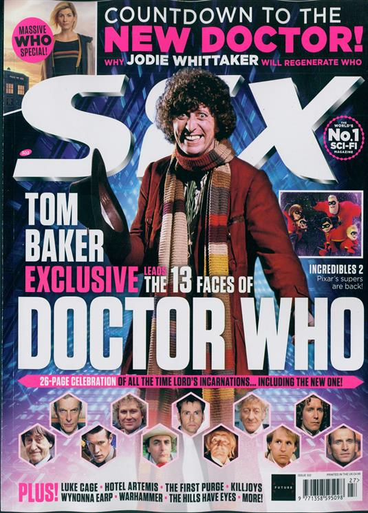 SFX Magazine Summer 2018: Tom Baker Exclusive - Doctor Who 26 Page Celebration Jodie Whittaker