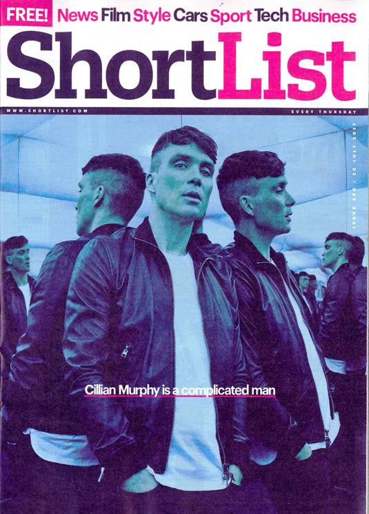 UK Shortlist magazine July 2017 Cillian Murphy UK Cover Interview