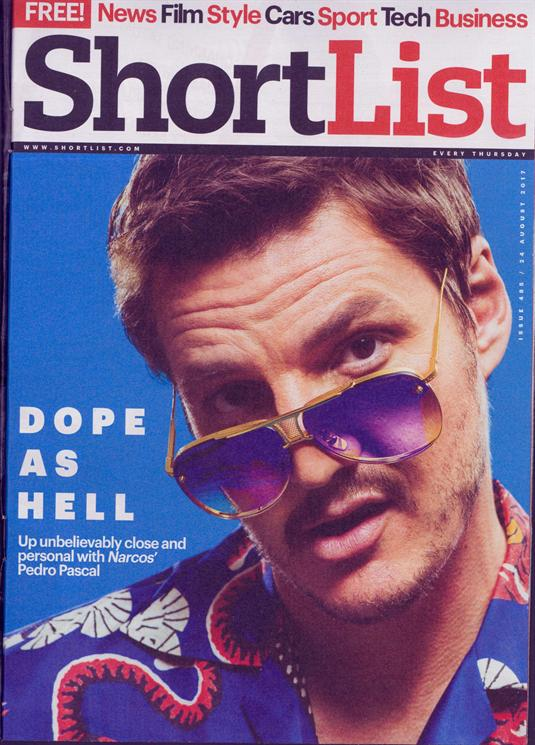 UK Shortlist Magazine August 2017 Pedro Pascal Narcos' UK Cover Interview