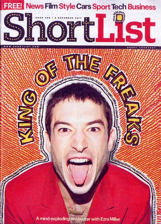Ezra Miller on the cover of Shortlist Magazine