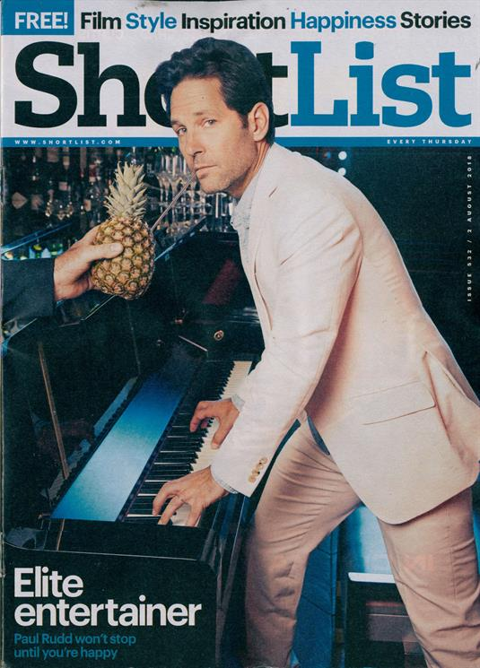 British Shortlist UK Magazine July 2018: PAUL RUDD COVER STORY & FEATURE