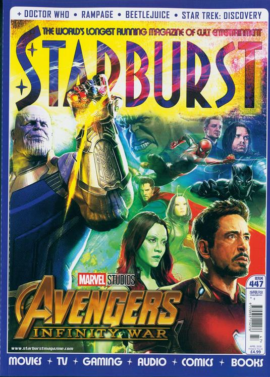 STARBURST MAGAZINE APRIL 2018 AVENGERS: INFINITY WAR BENEDICT CUMBERBATCH SEBASTIAN STAN COVER