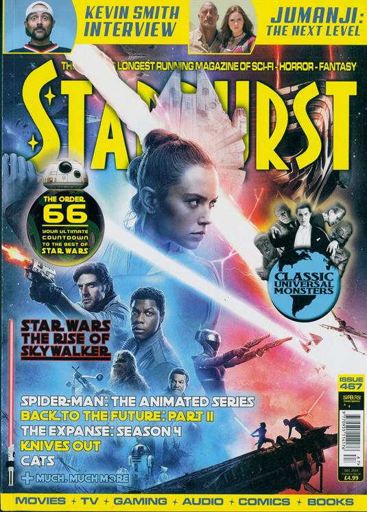UK Starburst magazine Dec 2019: STAR WARS: RISE OF THE SKYWALKER DAISY RIDLEY