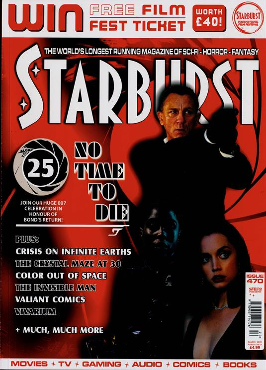Starburst magazine March 2020: JAMES BOND NO TIME TO DIE DANIEL CRAIG COVER