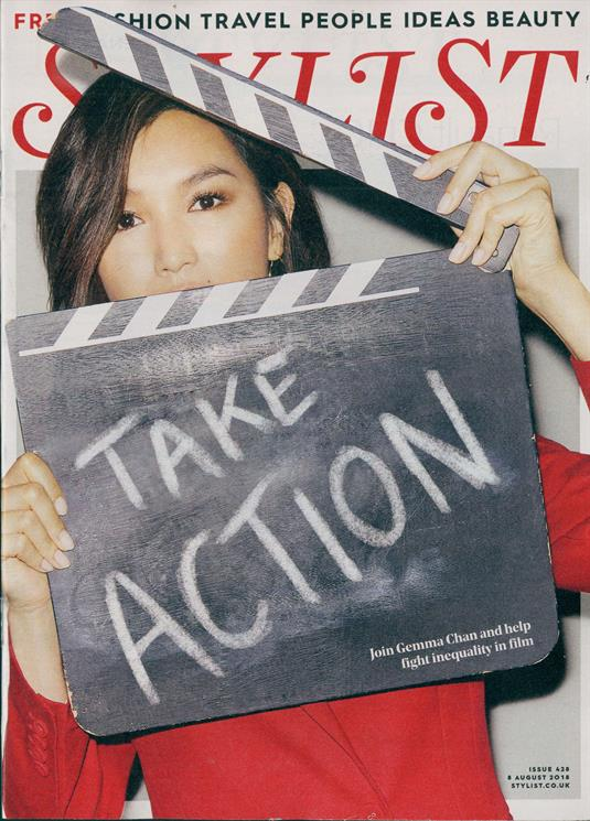 UK STYLIST MAGAZINE GEMMA CHAN PHOTO COVER UK MAGAZINE AUGUST 2018