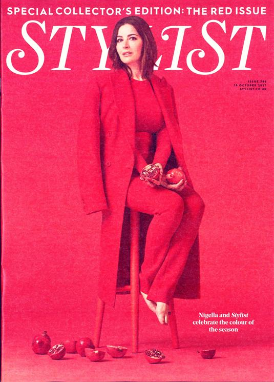 Nigella Lawson on the cover of Stylist Magazine