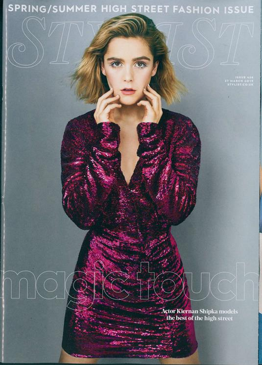 UK Stylist Magazine March 2019: KIERNAN SHIPKA SABRINA COVER AND FEATURE