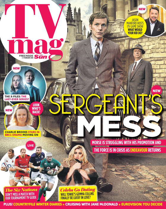 UK Sun TV Magazine February 2018: SHAUN EVANS ROGER ALLAM TOM BURKE Endeavour
