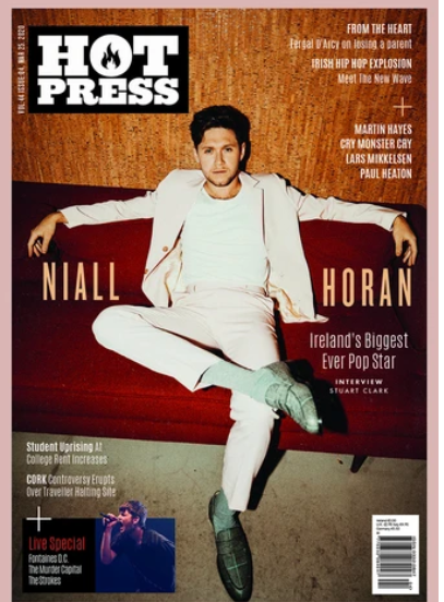 Hot Press Magazine March 2020: NIALL HORAN COVER & FEATURE One Direction