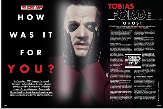KERRANG! December 2019: SLIPKNOT Ghost BABYMETAL Korn PVRIS Linkin Park