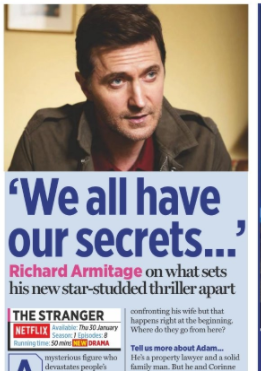 TV Times January 2020: Richard Armitage Interview