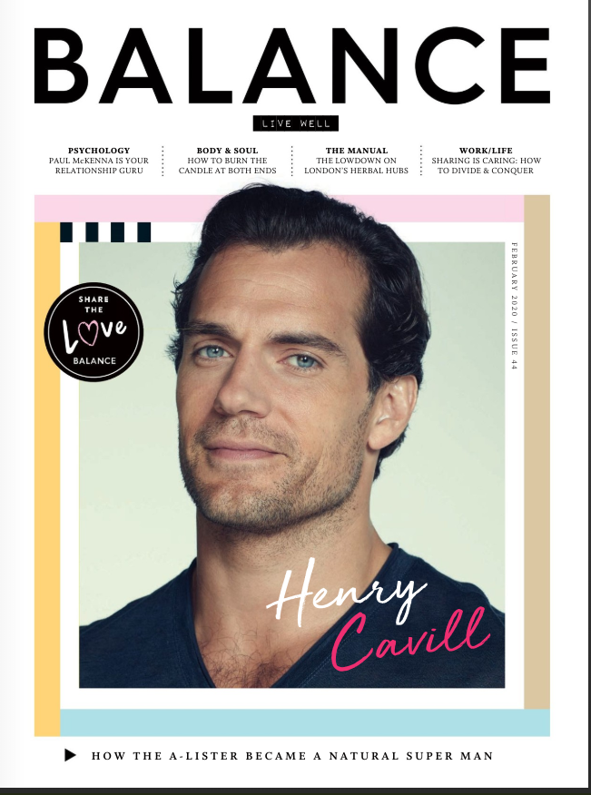UK Balance Magazine Feb 2020: Henry Cavill cover