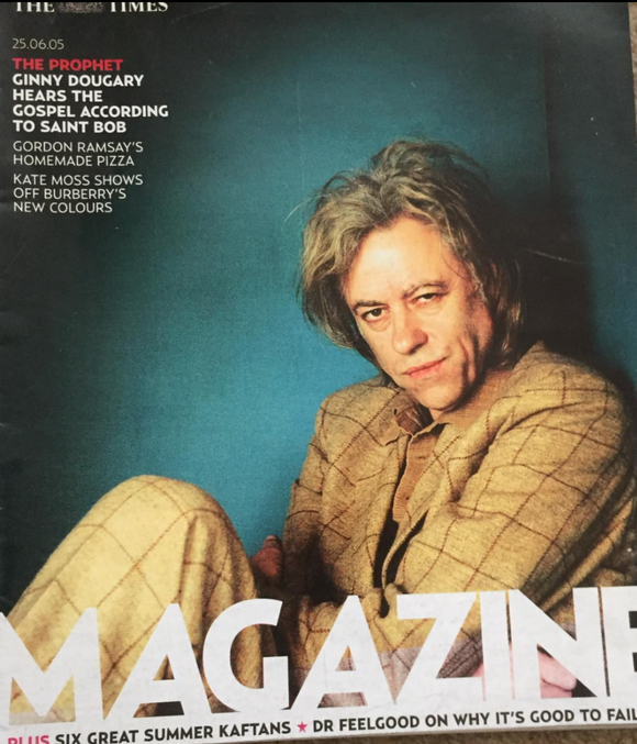 UK Times Magazine 25th June 2005 Sir Bob Geldof