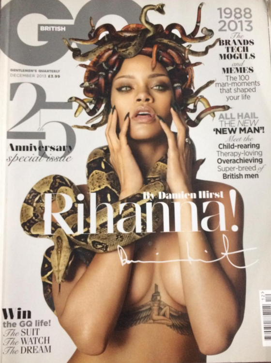 British GQ 25th ANNIVERSARY Issue 12/2013 RIHANNA by DAMIEN HIRST