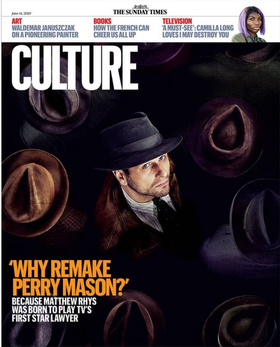 UK Culture Magazine 14th June 2020: Matthew Rhys on Perry Mason
