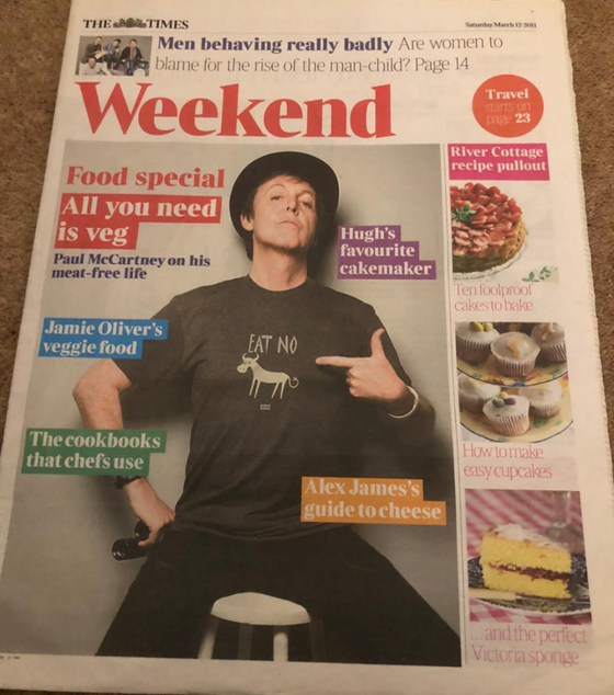 Times Weekend March 11 2011 Paul McCartney The Beatles