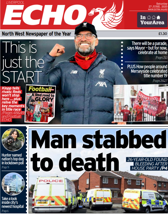 Liverpool Echo - Saturday 27th June 2020 - Reaction From The City