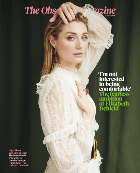 OBSERVER magazine 12 July 2020 Elizabeth Debicki Tenet cover and interview