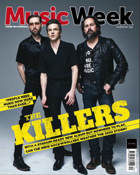 MUSIC WEEK Magazine August 2020: THE KILLERS BRANDON FLOWERS COVER