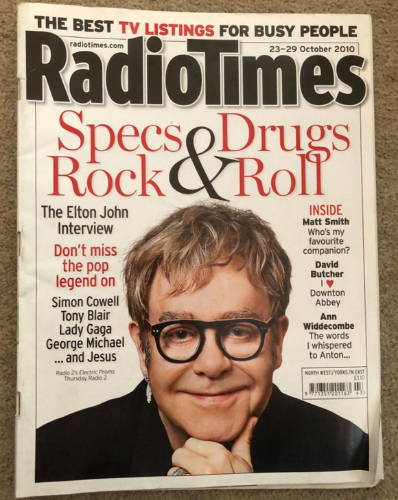 Radio Times Magazine 23 October 2010 Elton John