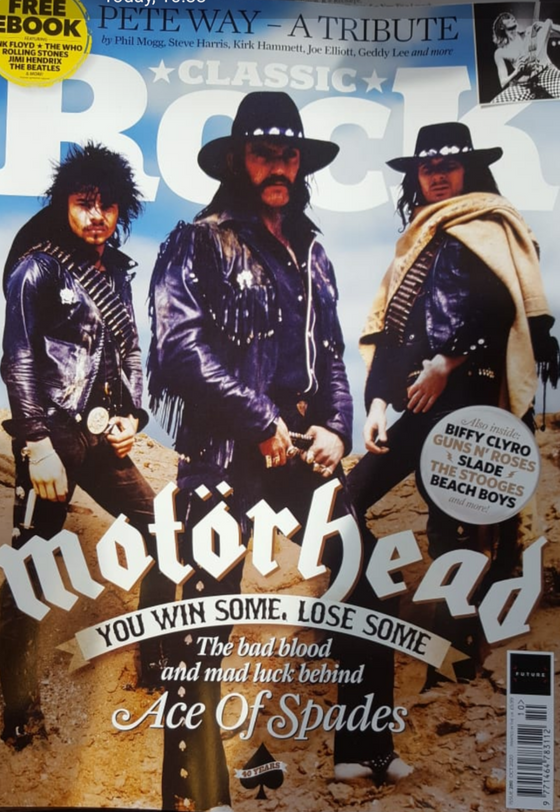 Classic Rock Magazine October 2020: MOTORHEAD Lemmy - Ace of Spades