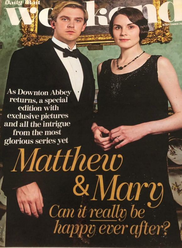 Mail Weekend Magazine 8th September 2012 Dan Stevens Michelle Dockery Downton Abbey