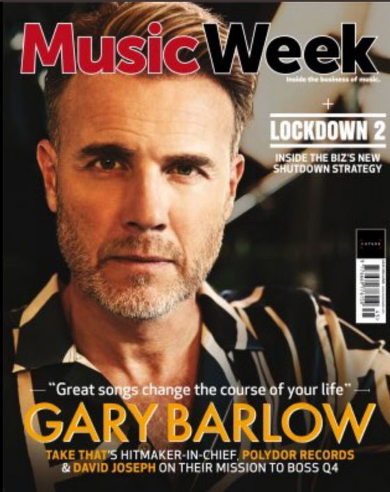 UK Music Week Magazine November 2020: Gary Barlow Take That