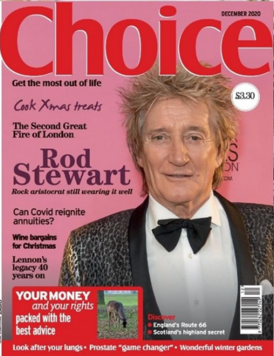 UK Choice Magazine December 2020 Rod Stewart Cover
