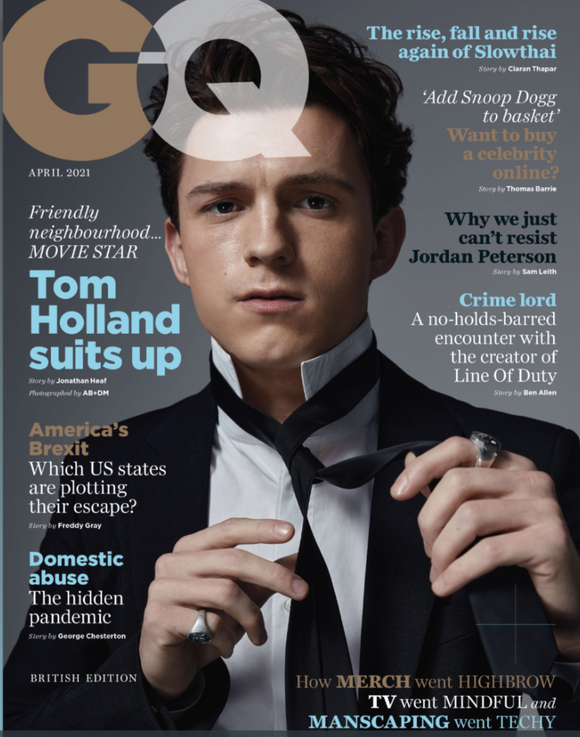 British GQ Magazine April 2021 Tom Holland World Exclusive