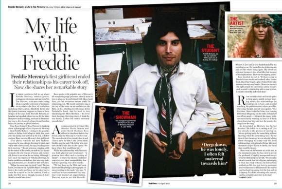 UK Radio Times Magazine April 2021: FREDDIE MERCURY Queen