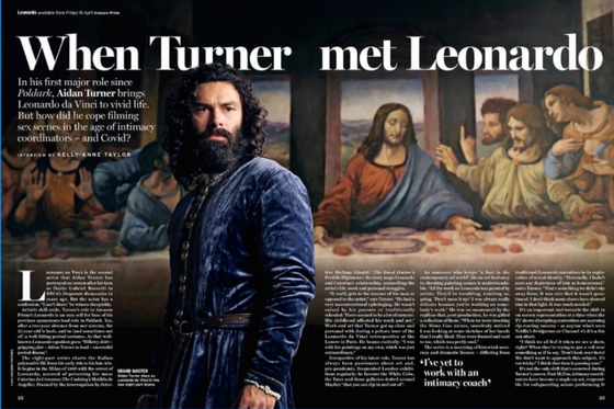 Radio Times Magazine 17 April 2021 Aidan Turner Interview