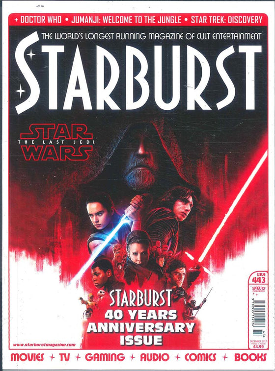 UK Starburst Magazine December 2017 Star Wars: The Last Jedi Adam Driver Daisy Ridley