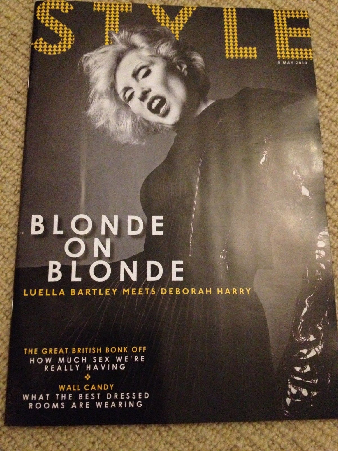 DEBBIE HARRY - BLONDIE UK Style Magazine Cover Interview - May 2013