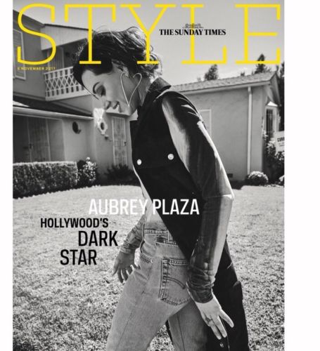 UK Style Magazine 5th November 2017  Aubrey Plaza Cover Story Exclusive Interview