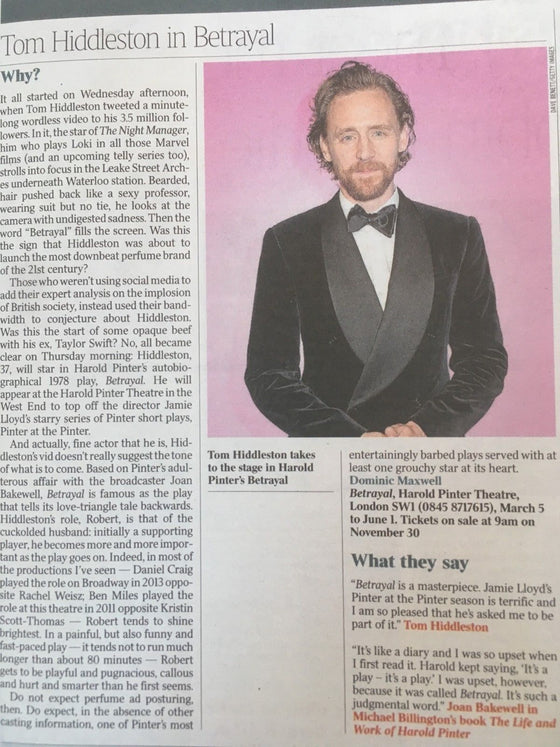 UK Times Review NOV 2018: ERROL FLYNN Taron Egerton TOM HIDDLESTON Stan Lee