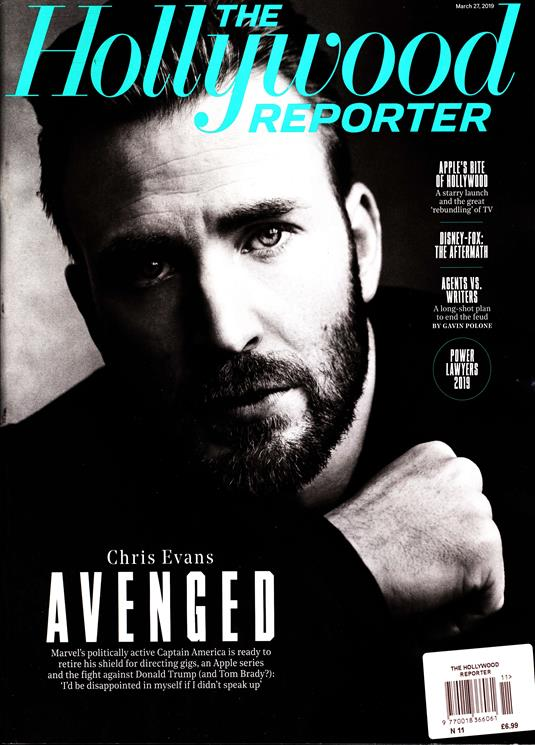 The Hollywood Reporter Magazine 2019 - Chris Evans Cover Interview