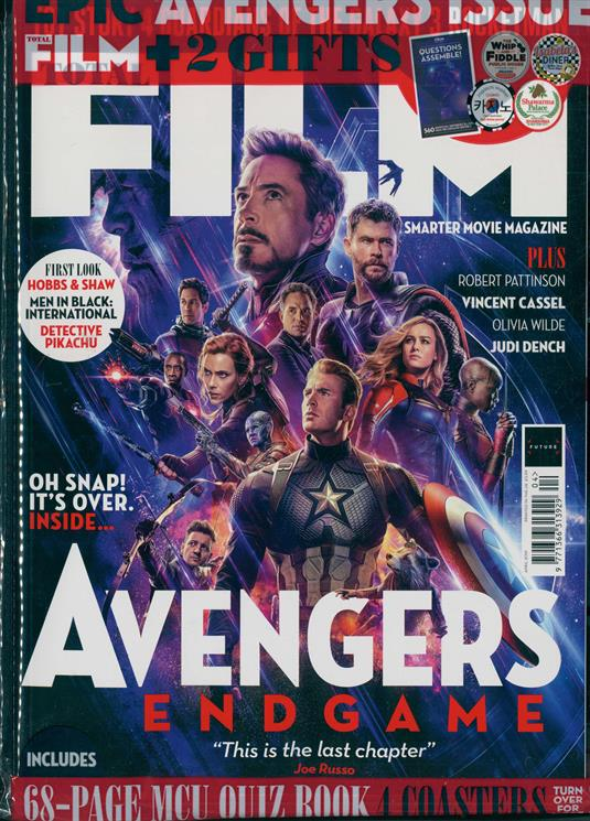 TOTAL FILM MAGAZINE - April 2019: Avengers: Endgame Robert Pattinson Judi Dench