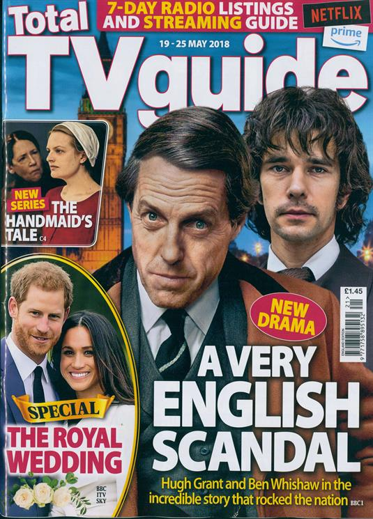 UK TV Guide Magazine May 2018: Ben Whishaw & Hugh Grant Cover Story