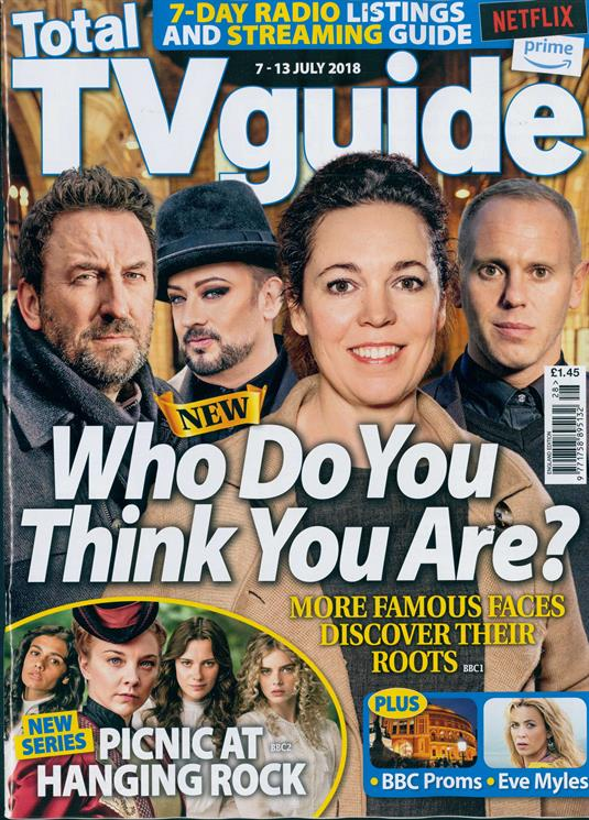 Total Tv Guide Magazine 7 July 2018 Boy George Judge Robert Rinder Natalie Dormer