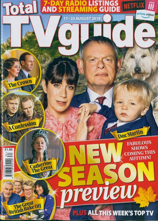 Total TV Guide August 2019 Martin Clunes Doc Martin