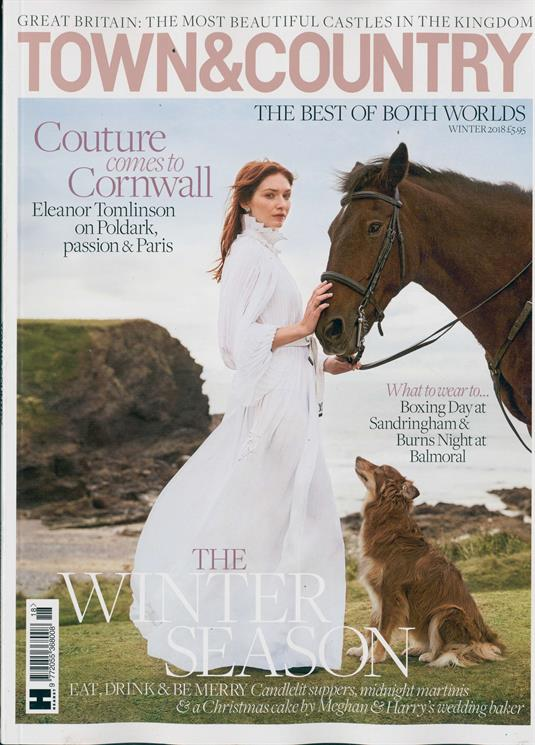 Town And Country Magazine Winter 2018 Eleanor Tomlinson Poldark Cover