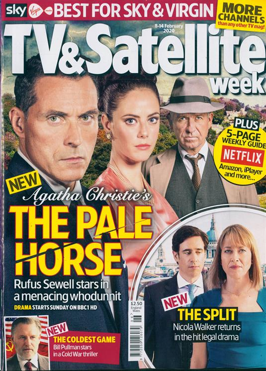 TV & SATELLITE Magazine Feb 2020 RUFUS SEWELL THE PALE HORSE KAYA SCODELARIO